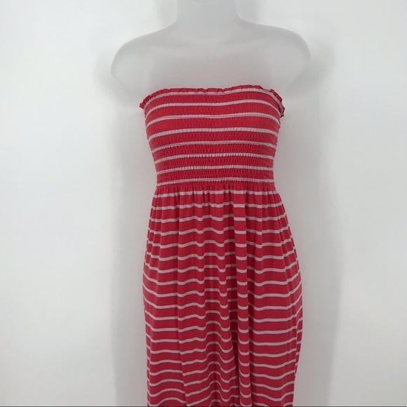 Faded Glory Dresses & Skirts - Faded Glory Striped Strapless Maxi Dress